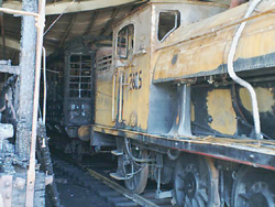 Fire damaged 2605