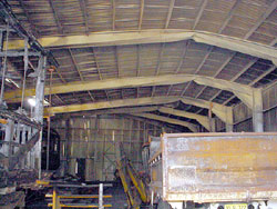 Damaged Carriage Shed Roof