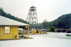 Headframe after hail storm